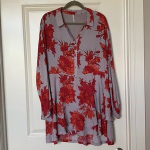Free People Floral Long-Sleeve